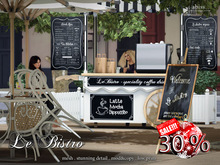 Bistro - Complete outdoor cafe, with props - by Abiss