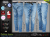Pathos Male Men Original Blue Denim Jeans Pants - Mesh - TMP,Adam,Slink,Aesthetic,Signature Gianni -Geralt,Belleza Jake