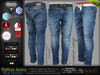 Pathos Male Mens Blue Denim Jeans Pants - Mesh - TMP, Adam, Slink, Aesthetic, Signature Gianni - Geralt, Belleza Jake