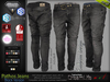 Pathos Male Mens Black Denim Jeans Pants - Mesh - TMP, Adam, Slink, Aesthetic, Signature Gianni - Geralt, Belleza Jake
