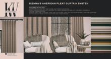 KraftWork Sienna's American Pleat Curtain System