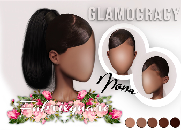//G.- Mona Hairbase/Ponytail