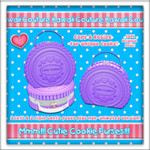 Kawaii Couture Cutie Cookies Bag Purple