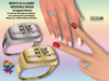 [SuXue Mesh] FATPACK Artu Bento & Classic Unrigged Inscribed A to Z Name Rings with HUD Resize 2 Lesbians Boxes