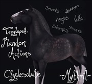 ~Mythril~ Teeglepet: Random Actions: Clydesdale