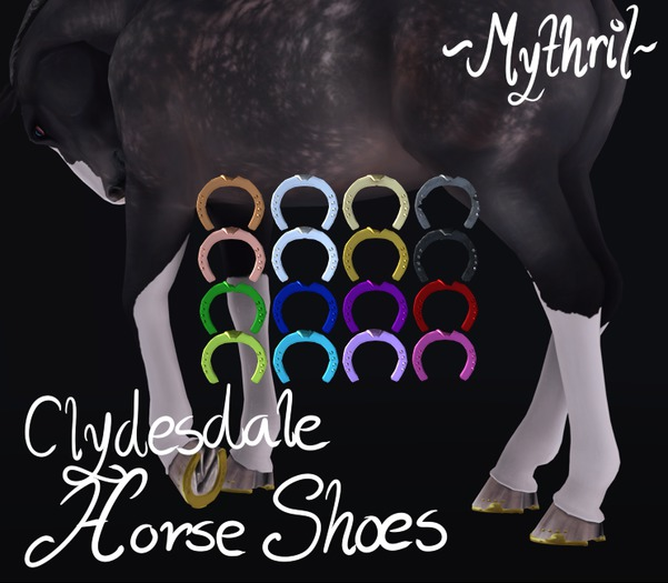 ~Mythril~ Clydesdale Horse Shoes
