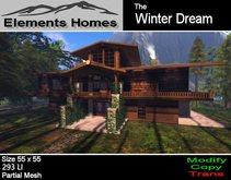 Winter Dream Log Home
