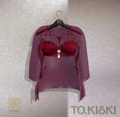 TO.KISKI - Lingerie Laura Set - Cherry (add me)