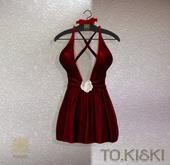 TO.KISKI - Kendra Mini Dress with Lace - Red (Add)