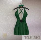 TO.KISKI - Kendra Mini Dress with Lace - Green (Add)
