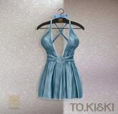 TO.KISKI - Kendra Mini Dress with Lace - Blue