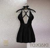 TO.KISKI - Kendra Mini Dress with Lace - Black (Add)
