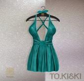 TO.KISKI - Kendra Mini Dress with Lace - Aqua