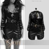 {ViSion} // Avery Leather Jacket - #2 - Maitreya, Legacy, Belleza Freya - Isis, Slink Hourglass