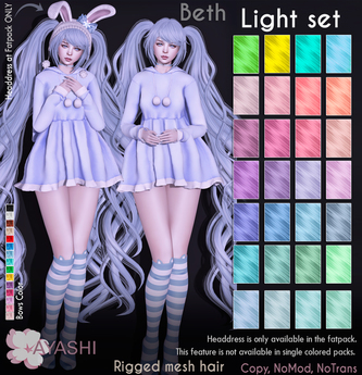 [^.^Ayashi^.^]  Beth hair-Light set