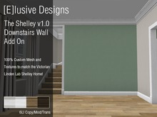 [E] Linden Homes Victorian The Shelley v1.Downstairs Wall Divider with crown and base molding texture hud