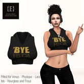Bye Felicia Crop Hoodie - Venus - Physique - Lara - Isis - Hourglass and Freya