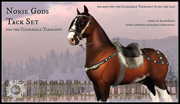 Jinx : Norse Gods Tack Set for Clydesdale Teegle Pet