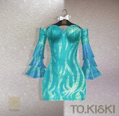 TO.KISKI - Aisha dress / AQUA