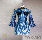 TO.KISKI - Aisha dress / BLUE MOON