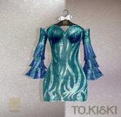 TO.KISKI - Aisha dress / OCEAN