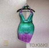 TO.KISKI - Kami Mini dress - Holographic Aqua (Add)