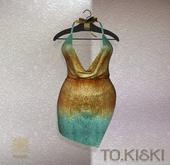 TO.KISKI - Kami Mini dress - Holographic Gold (Add)