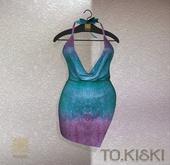 TO.KISKI - Kami Mini dress - Holographic Sky (Add)