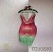 TO.KISKI - Kami Mini dress - Holographic Red (Add)