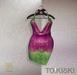 TO.KISKI - Kami Mini dress - Holographic Fucsia (Add)