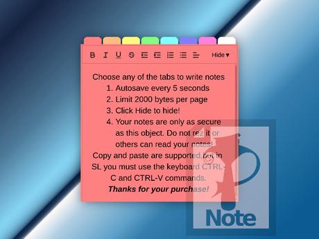Notepad HUD (NotePazz HUD)