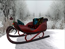 Sleigh Red & Blck w Holly 9 Animations