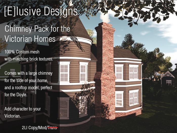 [E] Linden Victorian Homes Chimney Pack