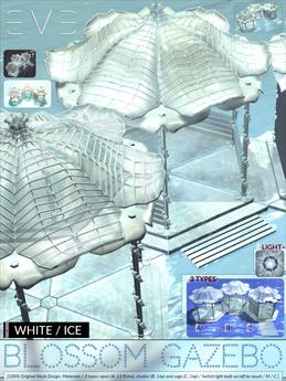 E.V.E Blossom Gazebo {White/Ice} (add)