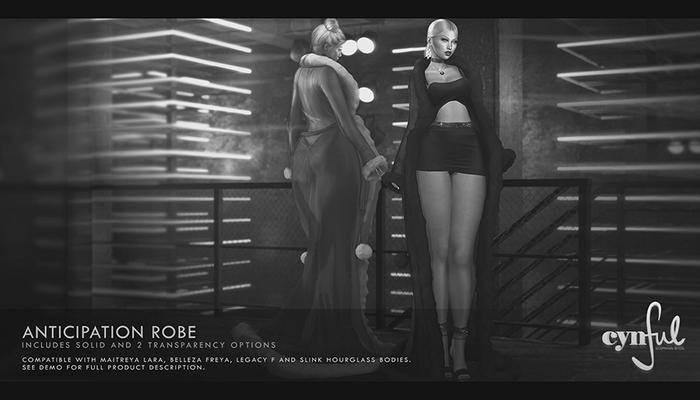 Cynful Anticipation Robe - Demo   [Maitreya Lara, Belleza Freya, Slink (HG), Legacy