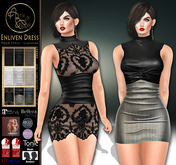 ***ArisArisB&W~Enliven Dress~HUD TEX-UPDATED FOR Ebody Curvy