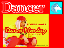 Targaryen SHop - Tones and I - DANCE monkey dancer BOX