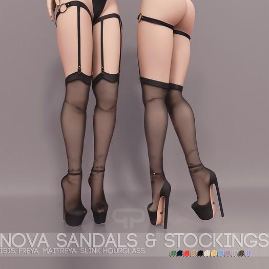 Pure Poison - Nova Sandals & Stockings