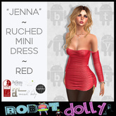 "RD - ""Jenna"" - Ruched Mini - Red"