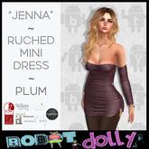 "RD - ""Jenna"" - Ruched Mini - Plum"