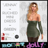 "RD - ""Jenna"" - Ruched Mini - Green"
