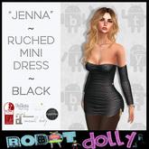 "RD - ""Jenna"" - Ruched Mini - Black"