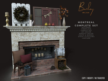Barley - Montreal Fireplace Complete Set
