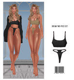 DREAM. Two-Piece Set [BLACK] HG, BBL, 9S JESSICA, SKING REG/BIMBO, EBODY CURVY, LARA ::Kloss::