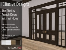 [E] Victorian Shelley French Doors Wiith Windows