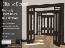 [E] Victorian Hardy French Doors  Wiith Windows