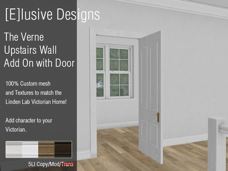 [E] Victorian Verne Upstairs Wall Divider Add On