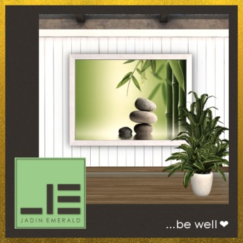 ♥ FREEBIE During Coronavirus to De-Stress ♥ Bamboo Balance Stones Wall Art - Mesh - 12 Color HUD - C/M (Wear to Unpack)