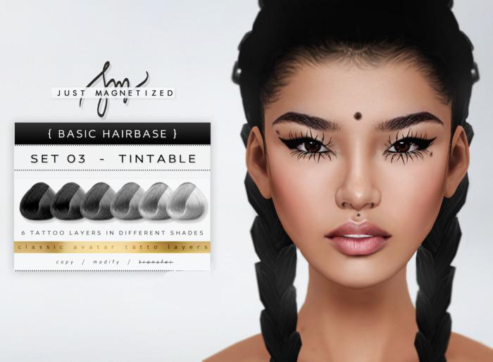 Just Magnetized - Natural Hairbase - set 03 BOM