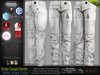 DUTY WHITE Male Cargo Pants MESH - ADAM, AESTHETIC, SIGNATURE GIANNI- GERALT, SLINK, LEGACY, JAKE - FashionNatic